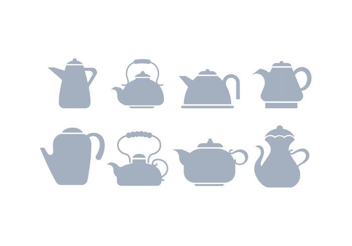Grau Silhouette Teekanne Icon Vektoren