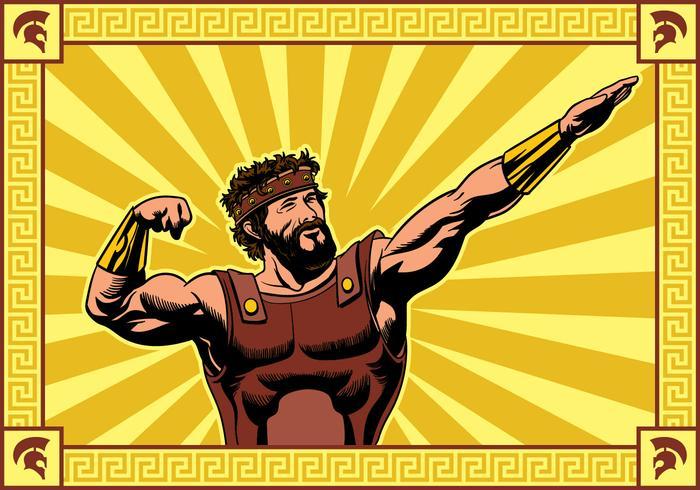 Hercules Auffall einer Pose Vektor