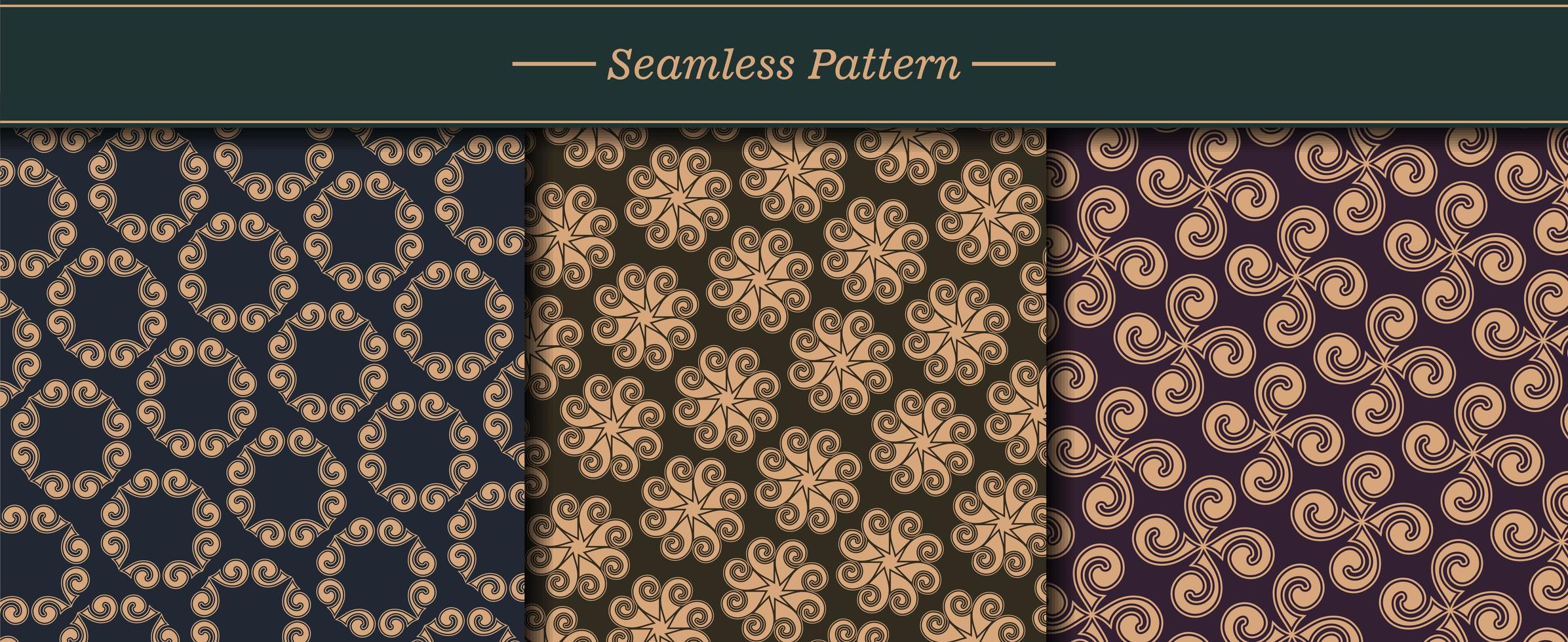 lyx mönster textur set vektor