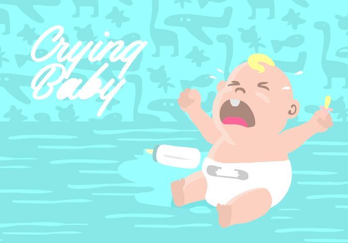 Gråtande baby Bakgrund vektor