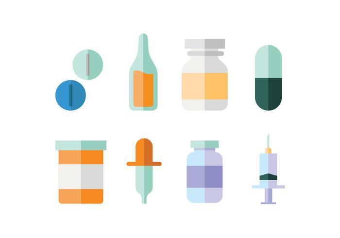 Medicinska förnödenheter platt design vektor