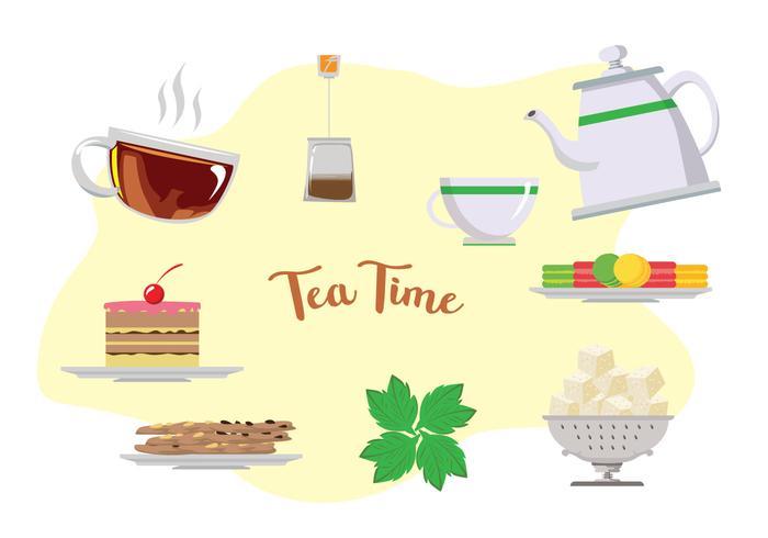 Hohe Tee-Zeit-Vektoren vektor
