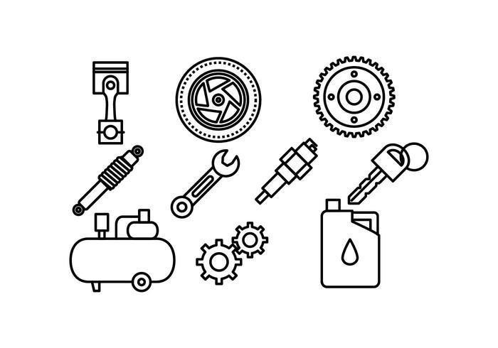 Freie Automotive Icon Vektor-Pack vektor