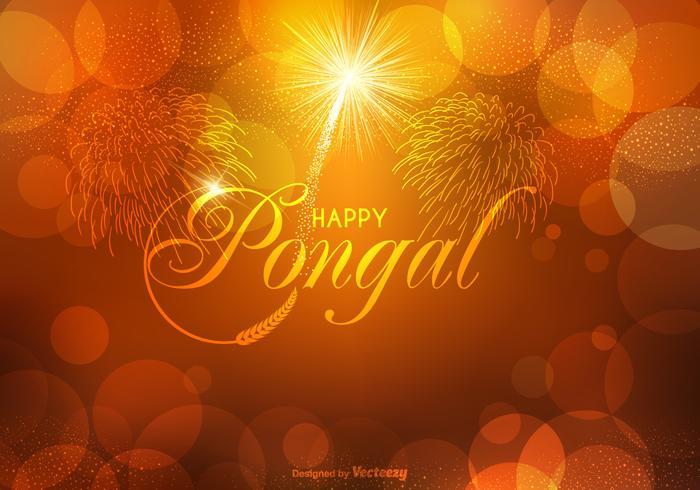 Vektor Happy Pongal Hintergrund