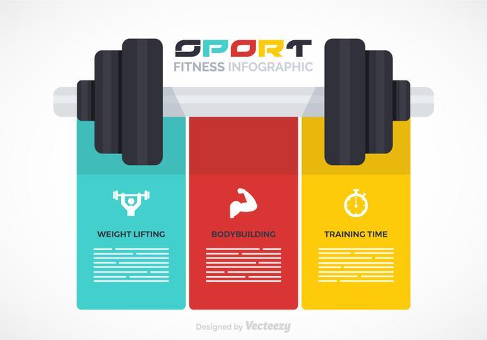 Fitness vektor Infographic