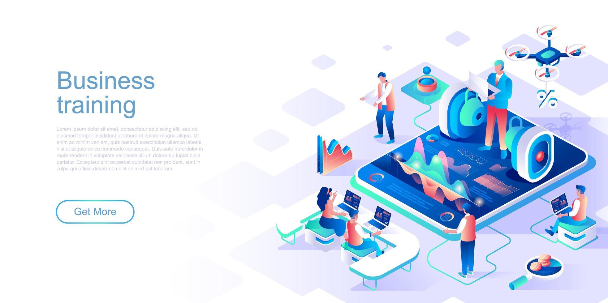 mall för affärsutbildningsmålsida vektor