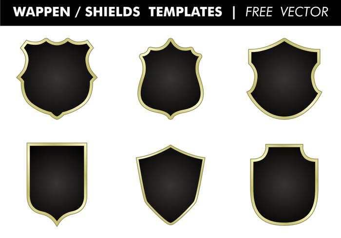 Wappen & Shields mallar Gratis Vector