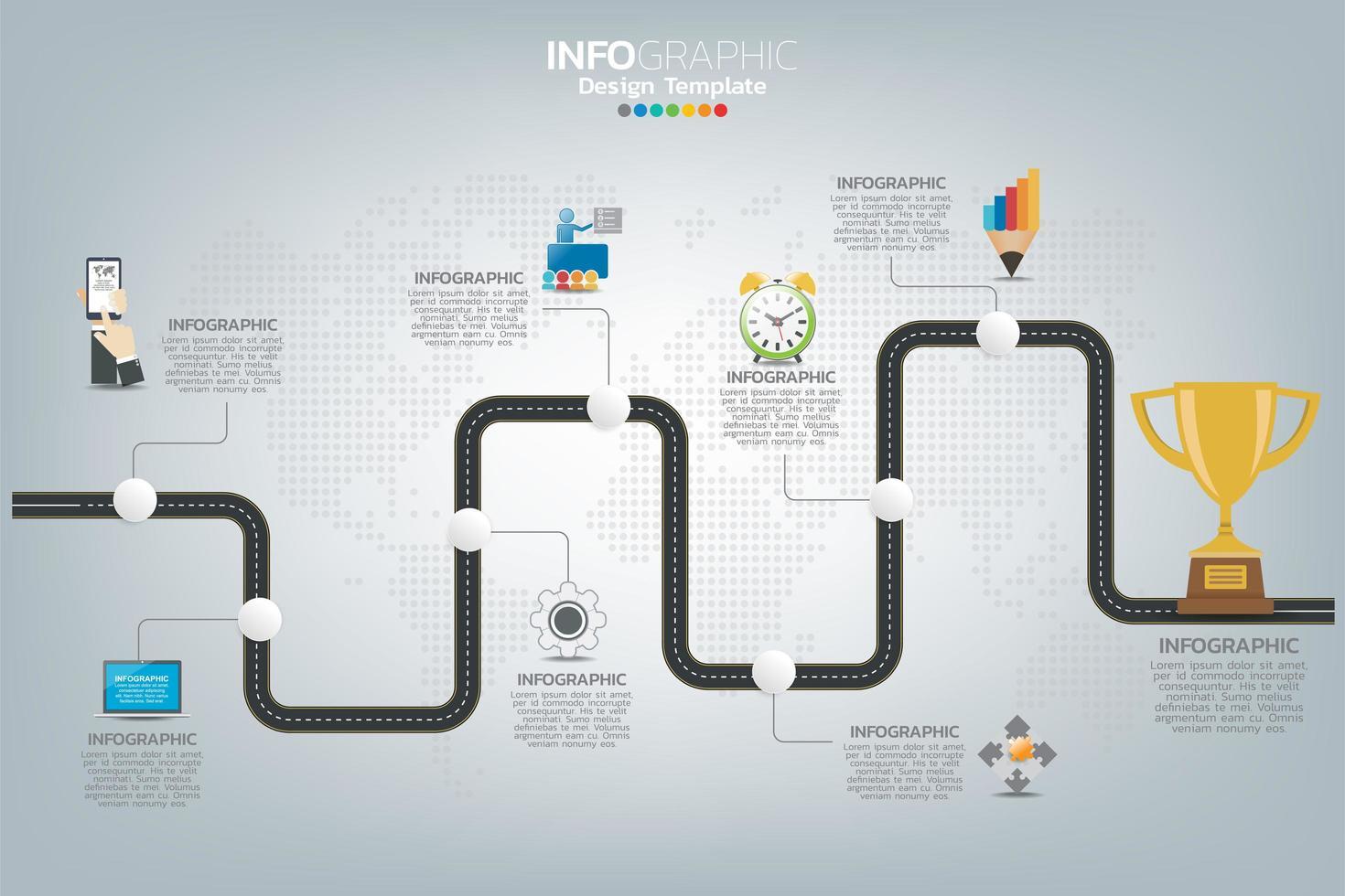 Wie zum Erfolg Business Infografik vektor