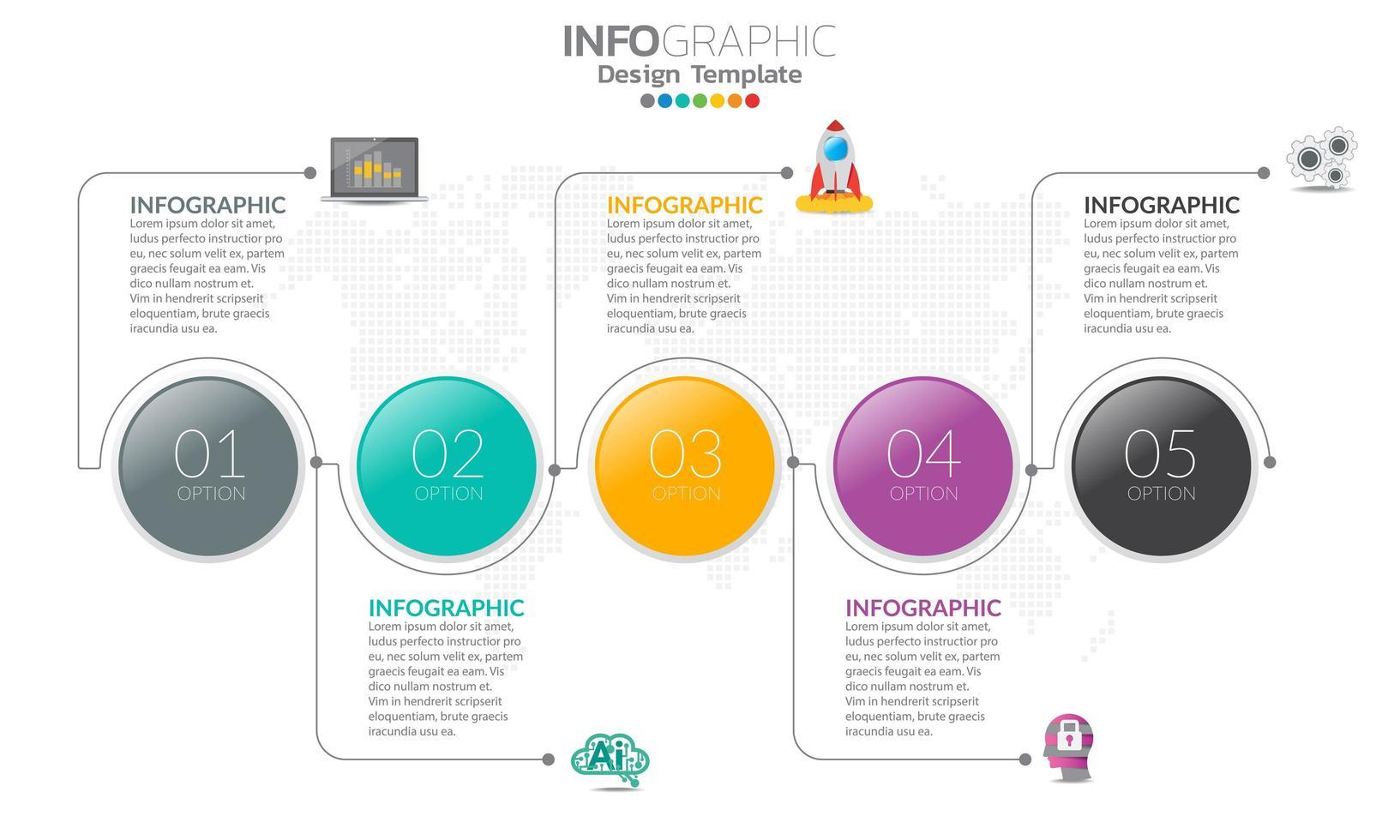 infographics för affärsidé med ikoner vektor