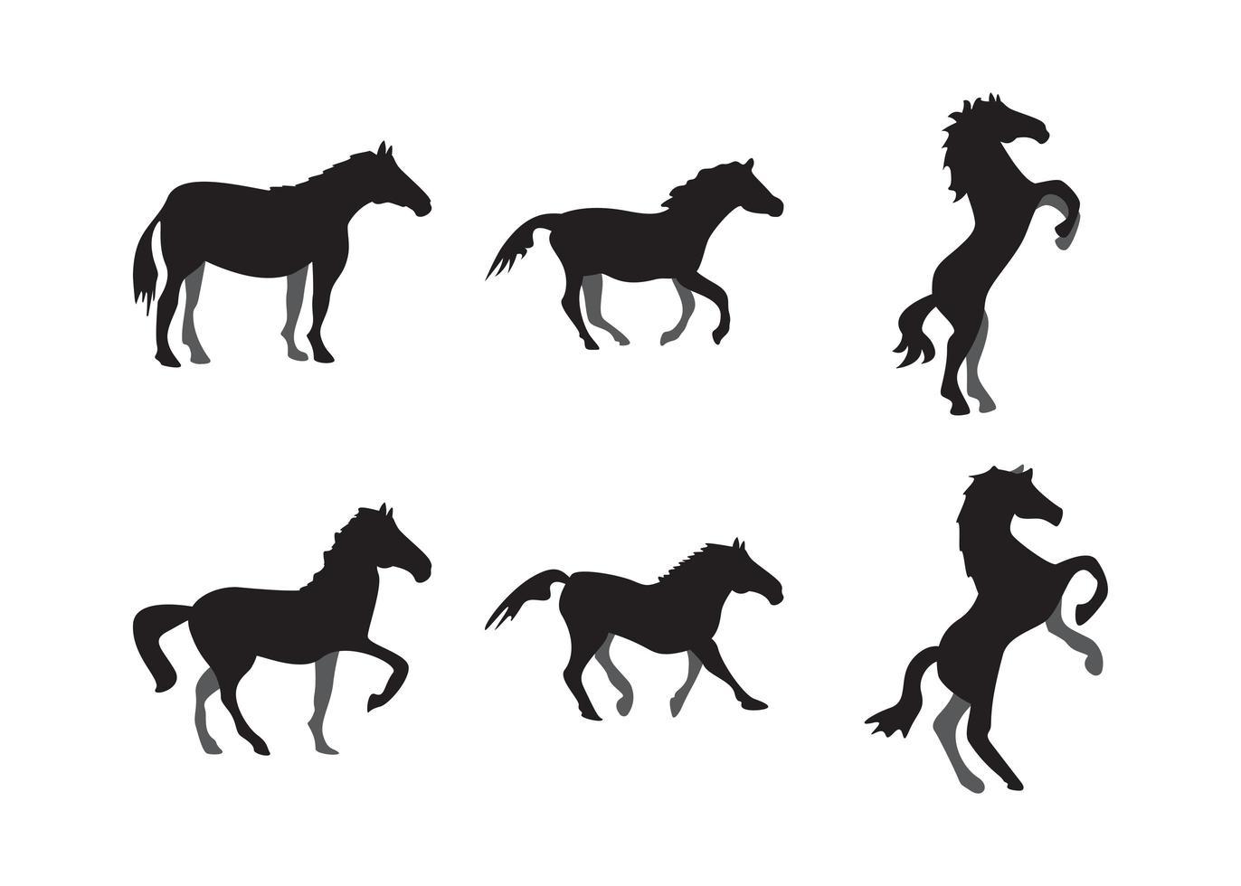 Pferdesilhouette eingestellt vektor
