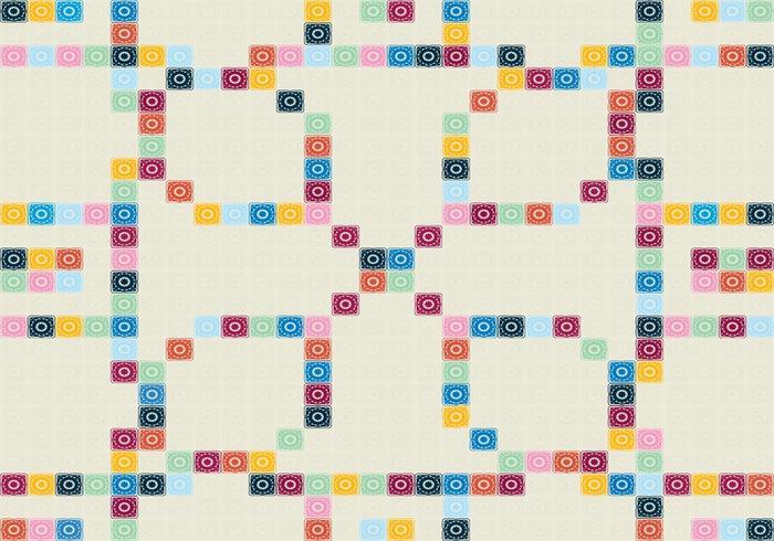 Portugisisk Mosaiken mönstrar vektor