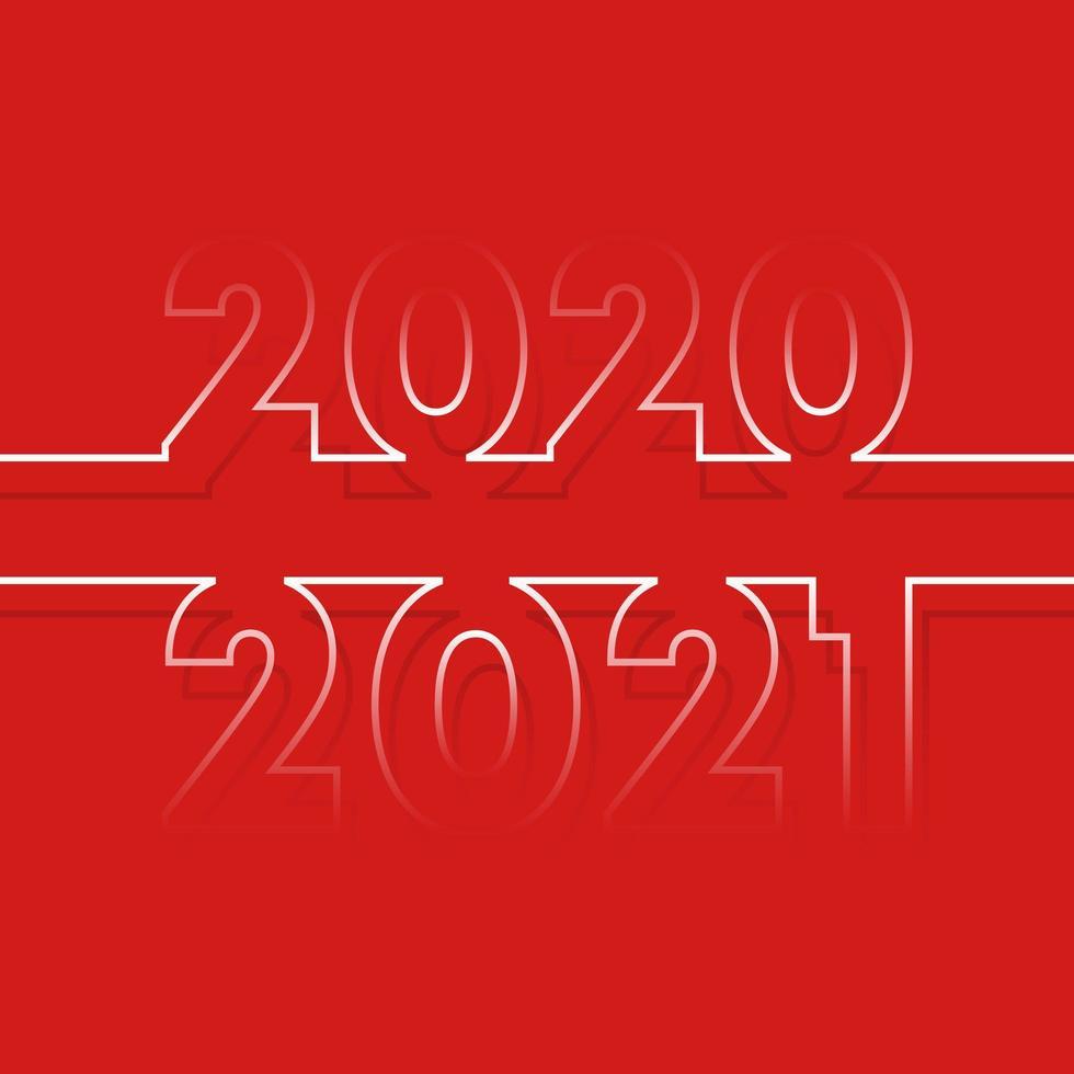 2020 till 2021 nyårsferieinbjudan vektor