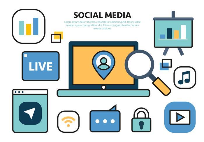 Kostenlose Social Media Vector Illustration