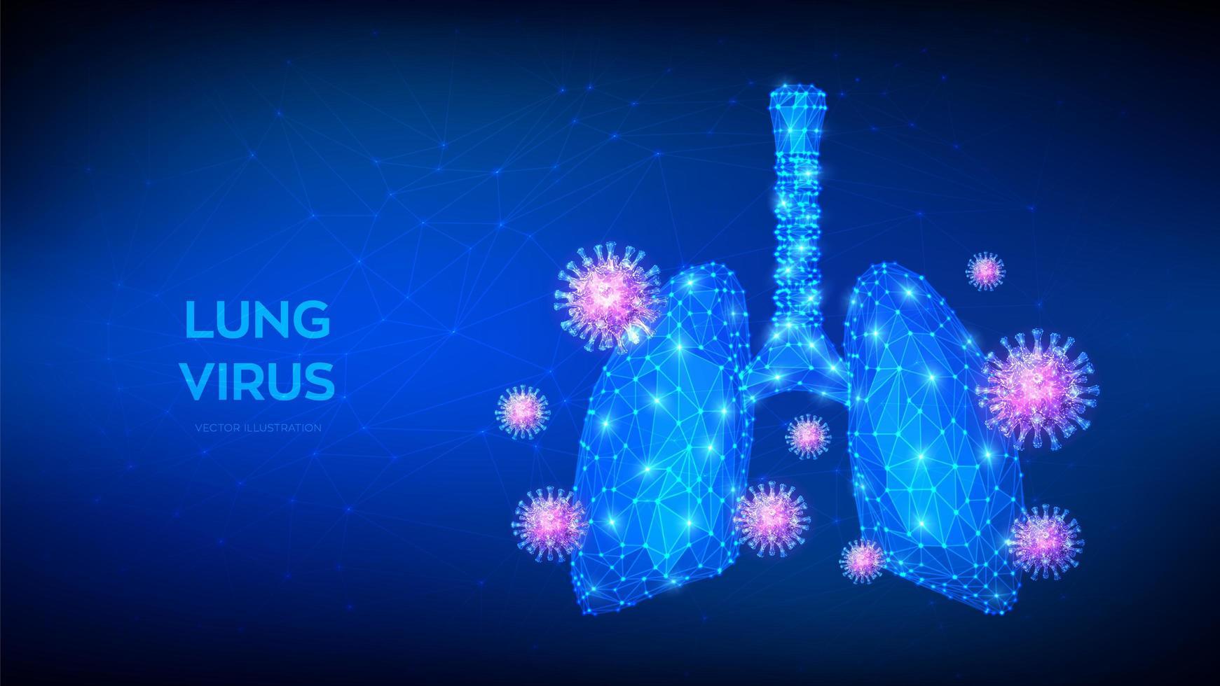 futuristisches Banner der viralen Lungenentzündung vektor