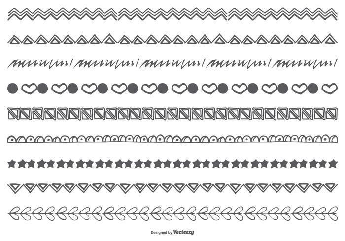 Hand gezeichnet Doodle Borders vektor