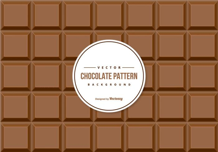 Chokladmönster bakgrund vektor