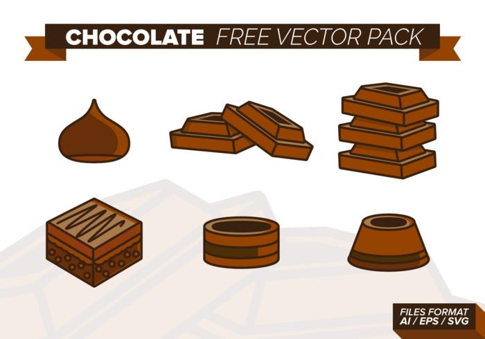 Schokolade Free Vector-Pack vektor