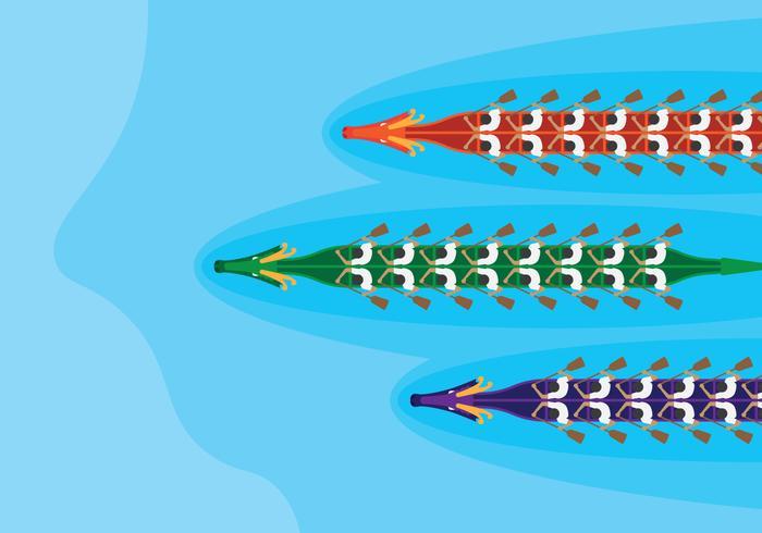 Drachenboote Top View Racing vektor