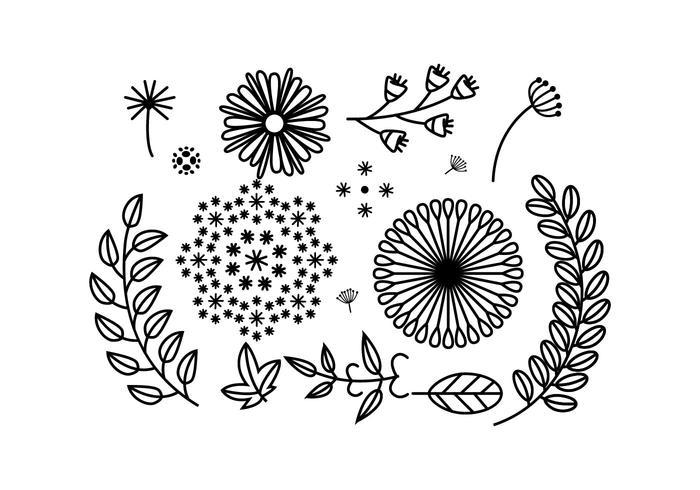 Freie Blumenverzierung Vektor