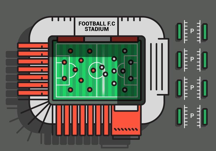 Fotbollsplan Vector Illustration