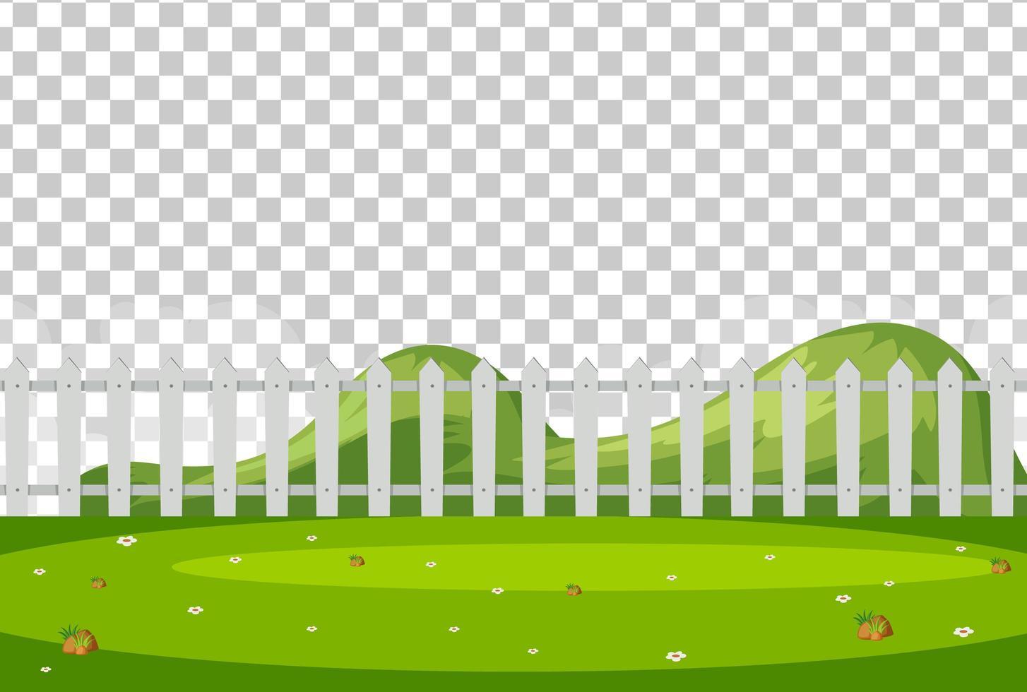 tomt naturpark scenlandskap på transparent bakgrund vektor