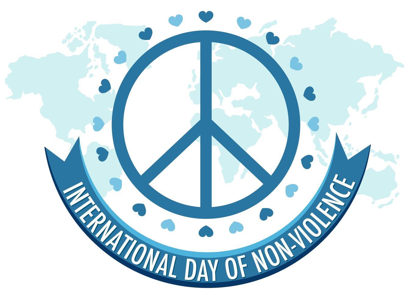 internationell dag för icke-våld vektor