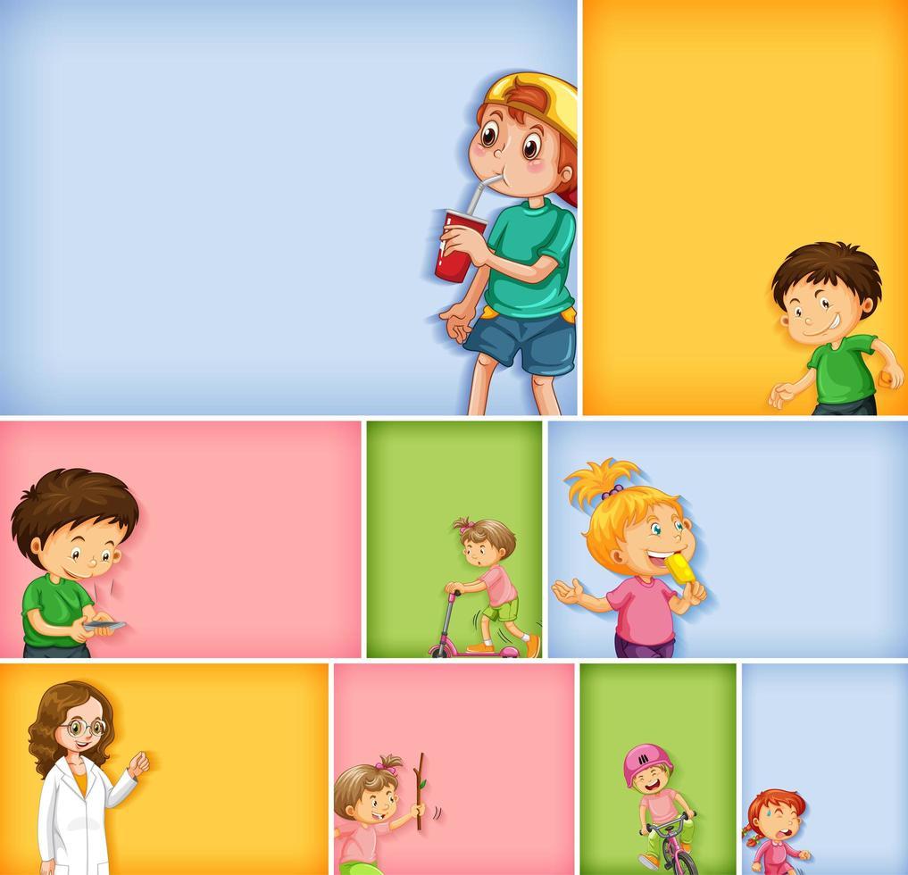 Satz von verschiedenen Kindercharakteren vektor