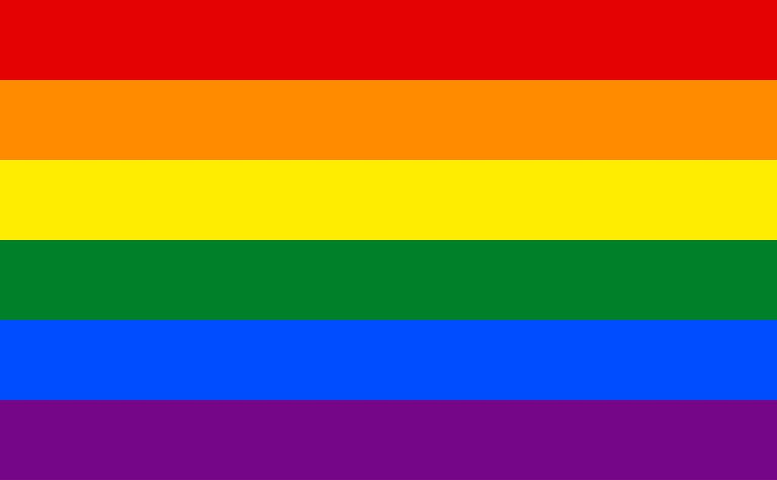 lgbt regnbågsflagga vektor