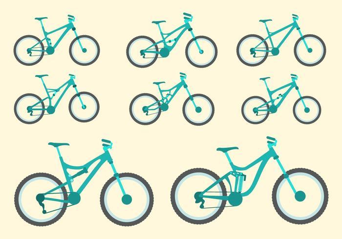Gratis cykel Vector Collection