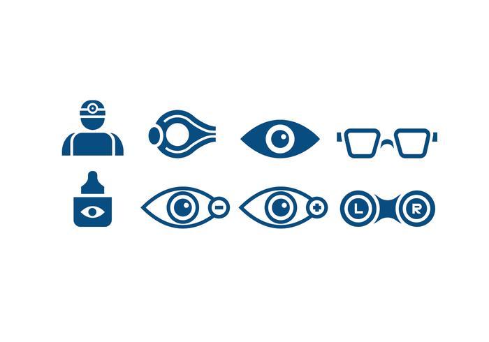 Medizinische Augenarzt-Icons vektor