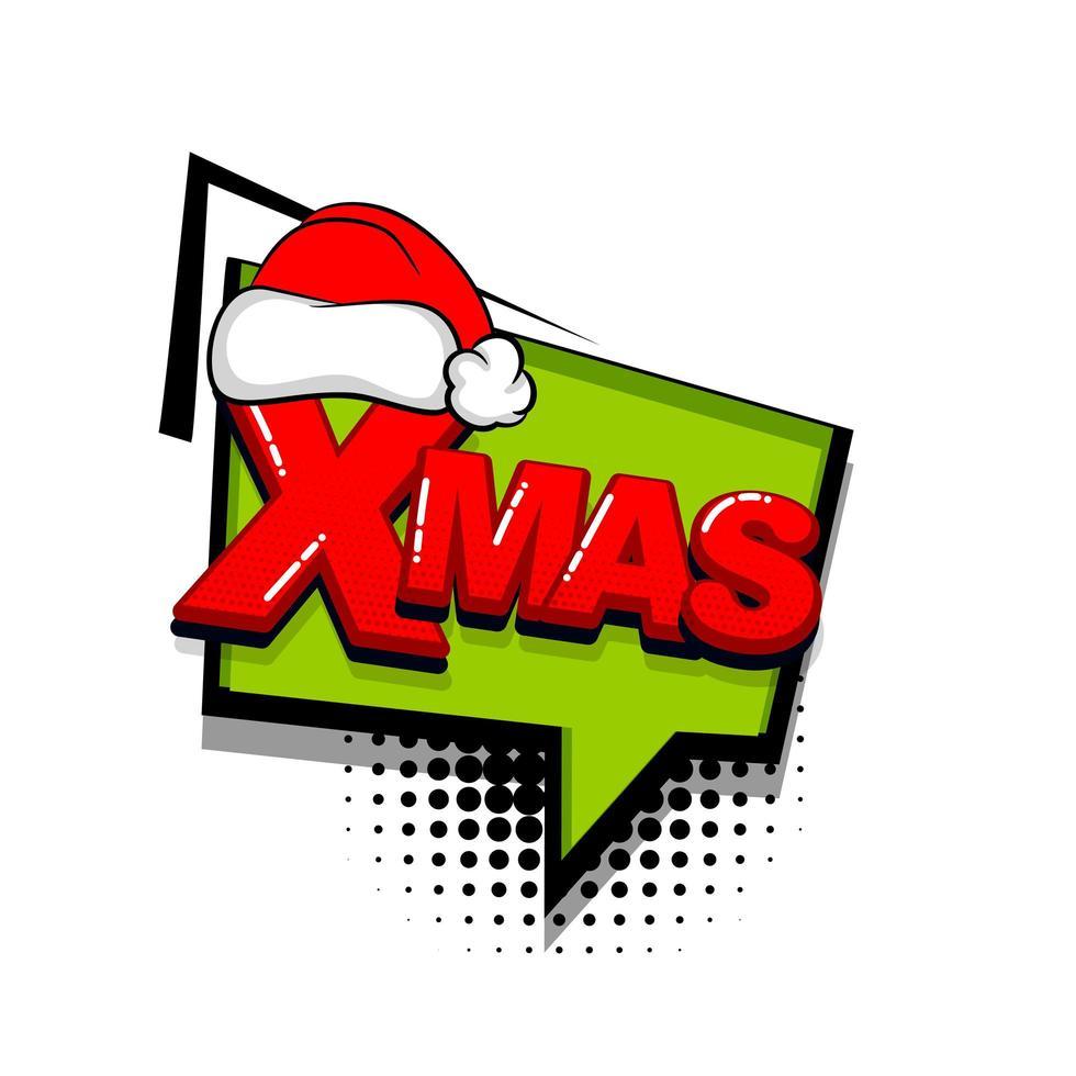 Weihnachten Pop-Art-Comic-Text vektor