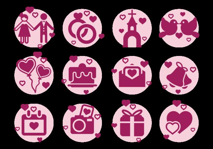 Boda Icons Vektor