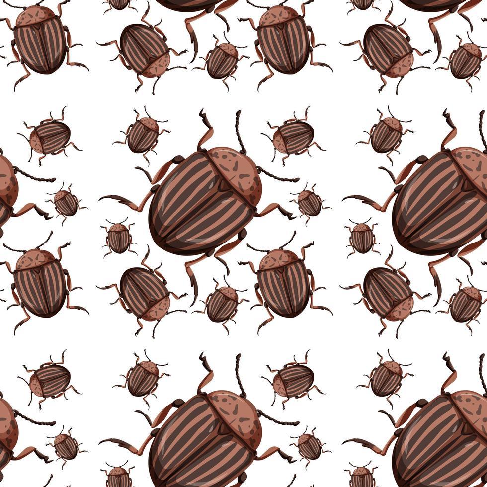 skalbagge insekt sömlös bakgrund vektor
