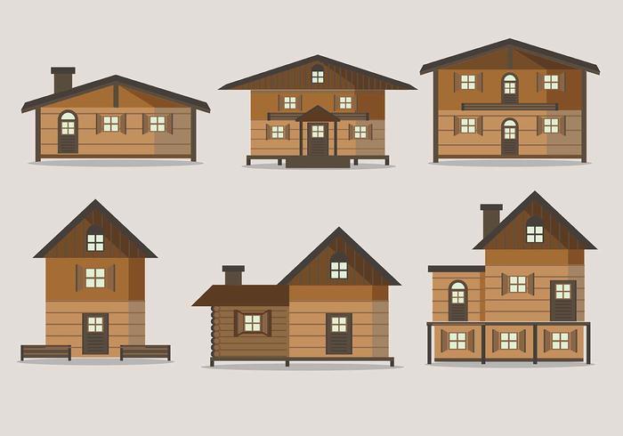 Kostenlose Chalet House Vektoren