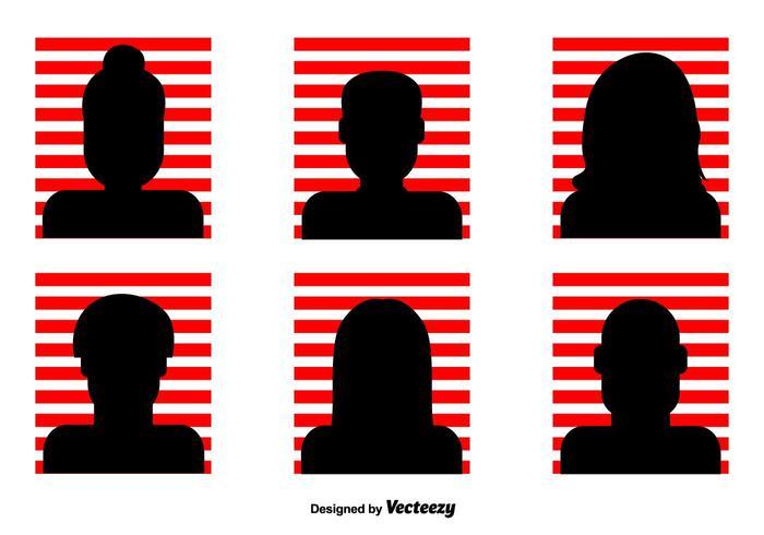 Röd randig Headshot vektor ikoner