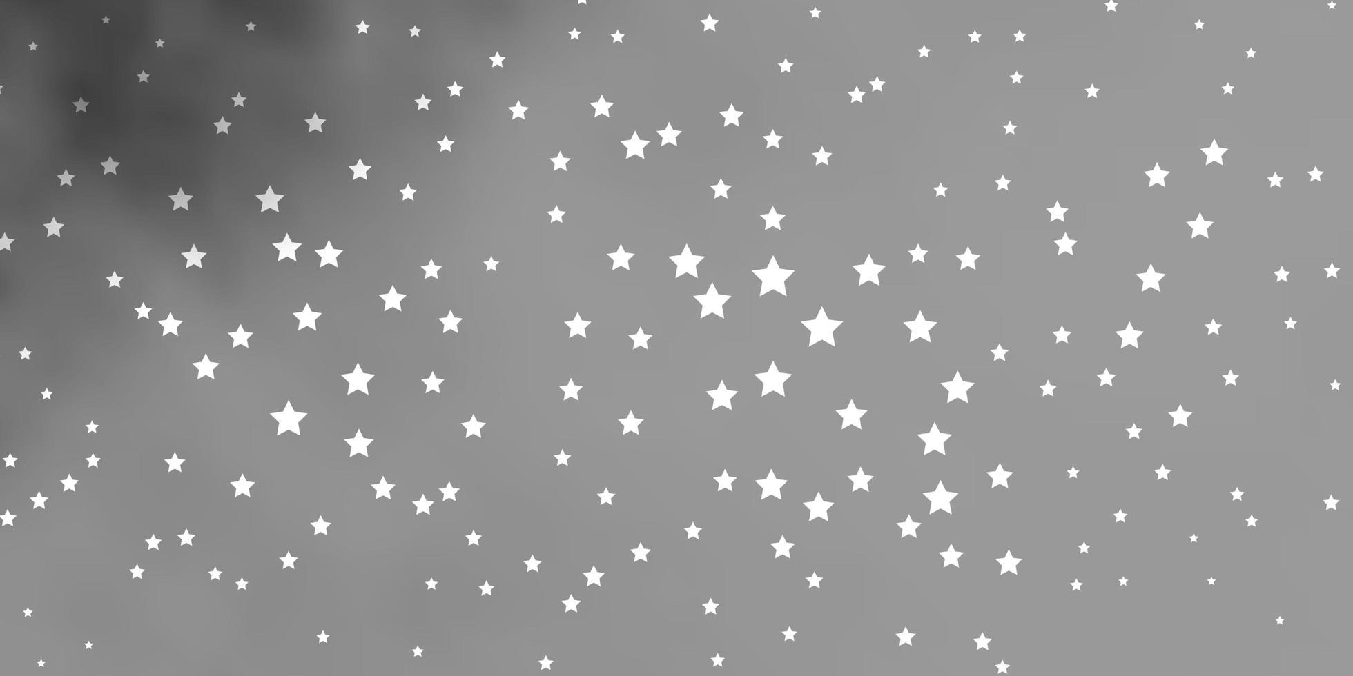 mörkgrå layout med ljusa stjärnor. vektor