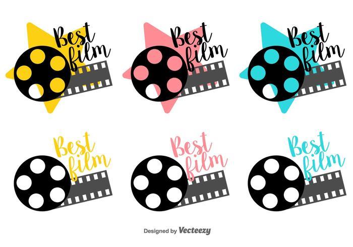 Bester Film Kanister Vektor-Etiketten vektor