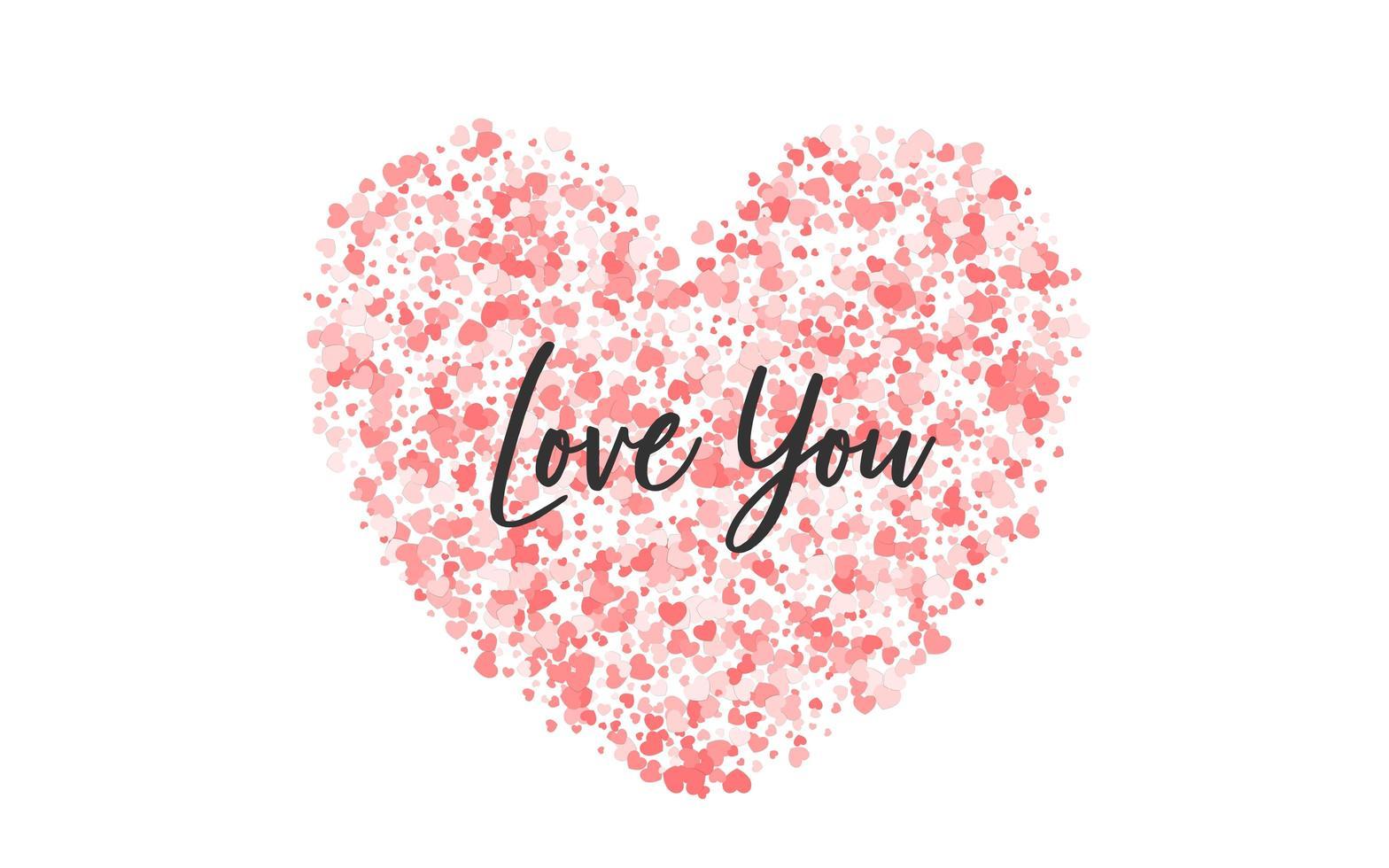 rosa Papier Valentinstag Konfettis vektor