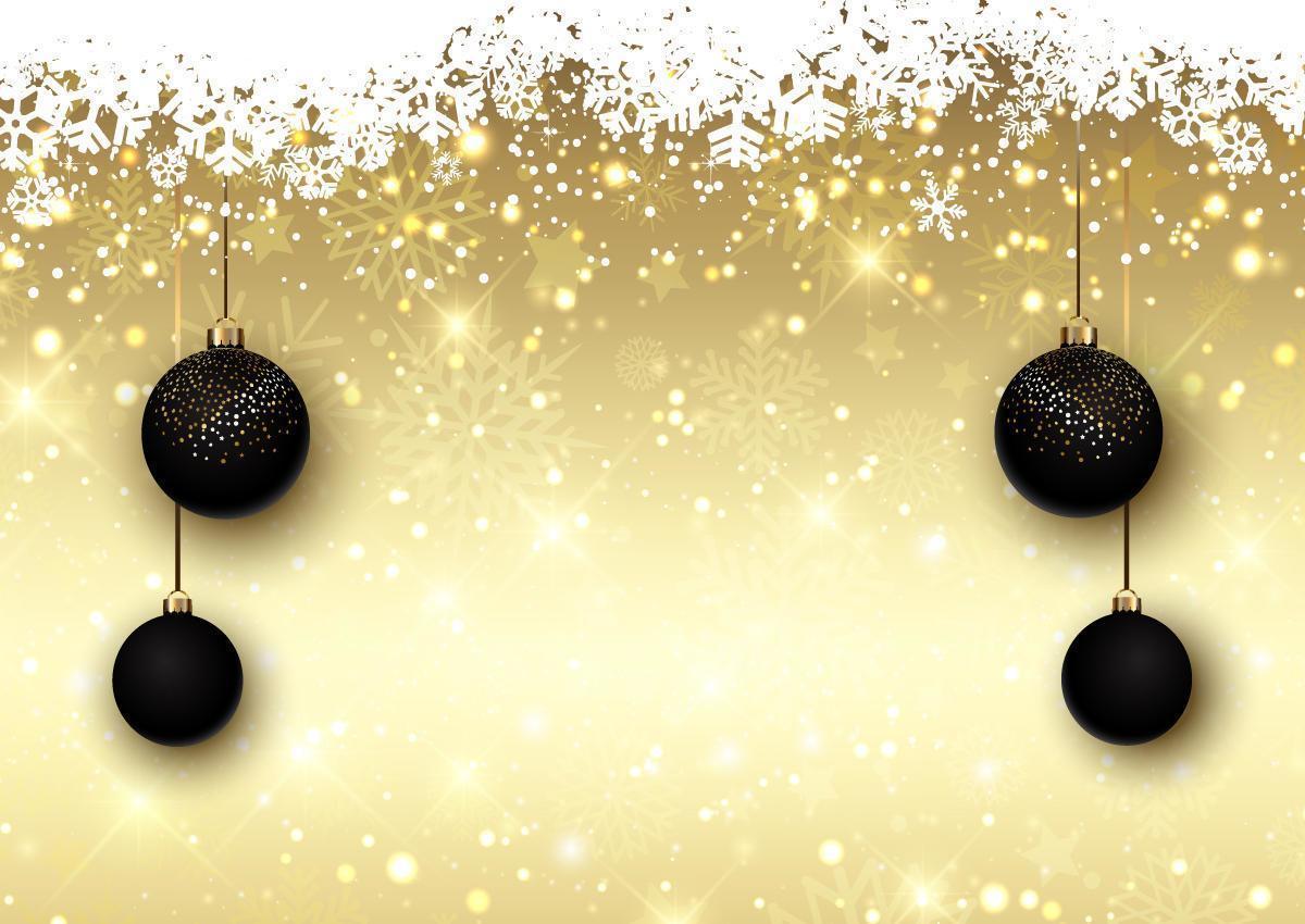 Weihnachtshintergrund mit hängenden Dekorationen vektor