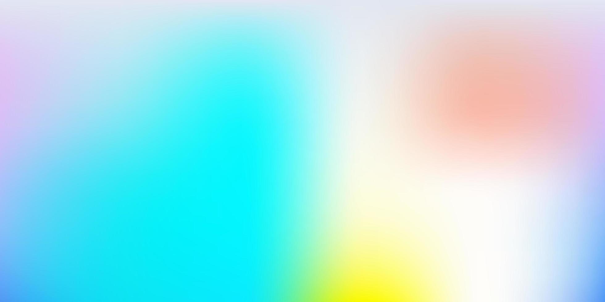 ljusblå och gul suddig mall. vektor