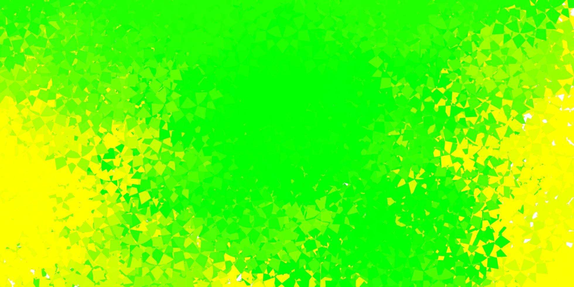ljusgrön och gul bakgrund med polygonala former. vektor