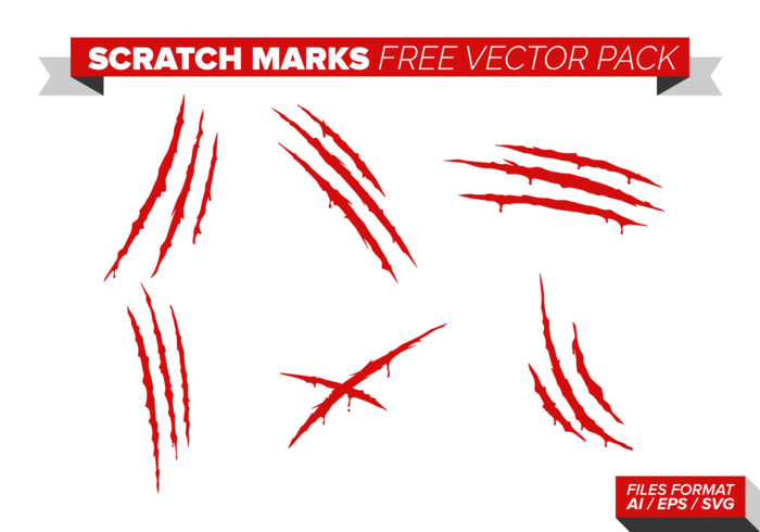Kratzspuren Free Vector-Pack vektor