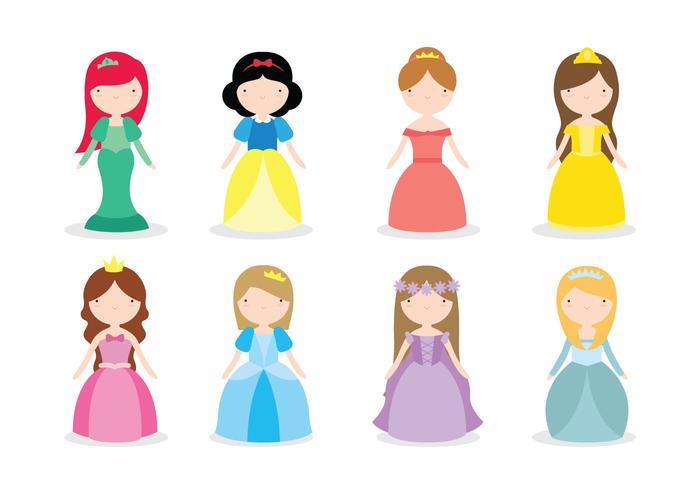 Disney Prinzessin Vektoren