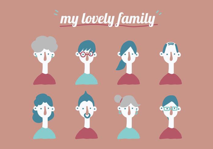 Meine wundervolle Familie vektor