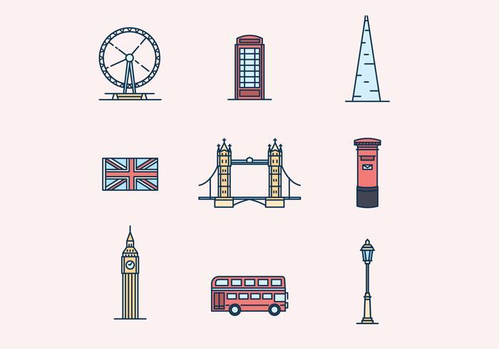 Icons England Theme vektor