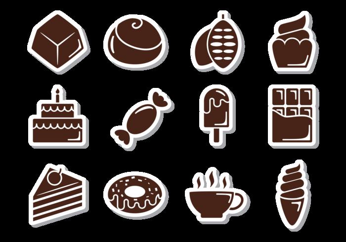 Choklad Ikoner Vektor