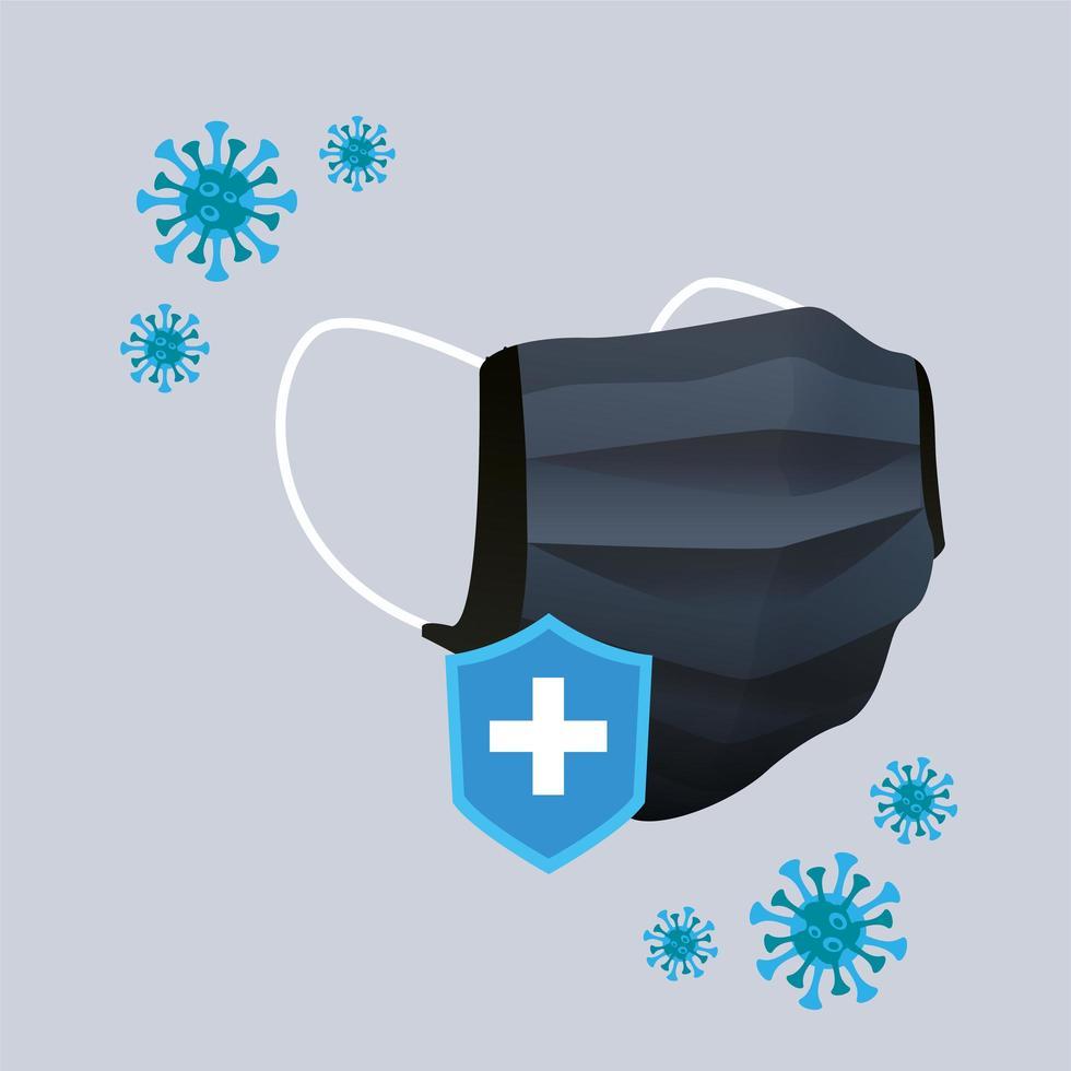 svart medicinskt maskskyddstillbehör vektor