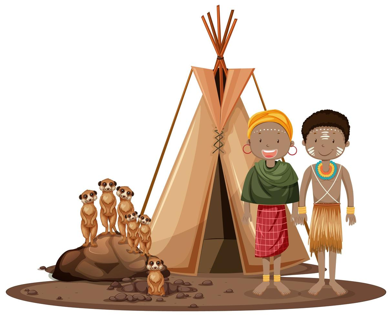 afrikanska stammar vektor