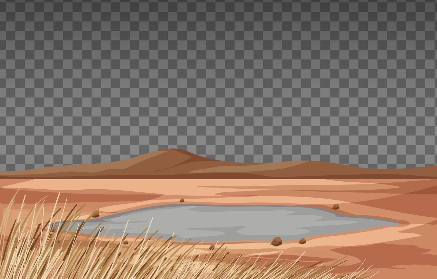 Trockenlandlandschaft auf transparentem Hintergrund vektor