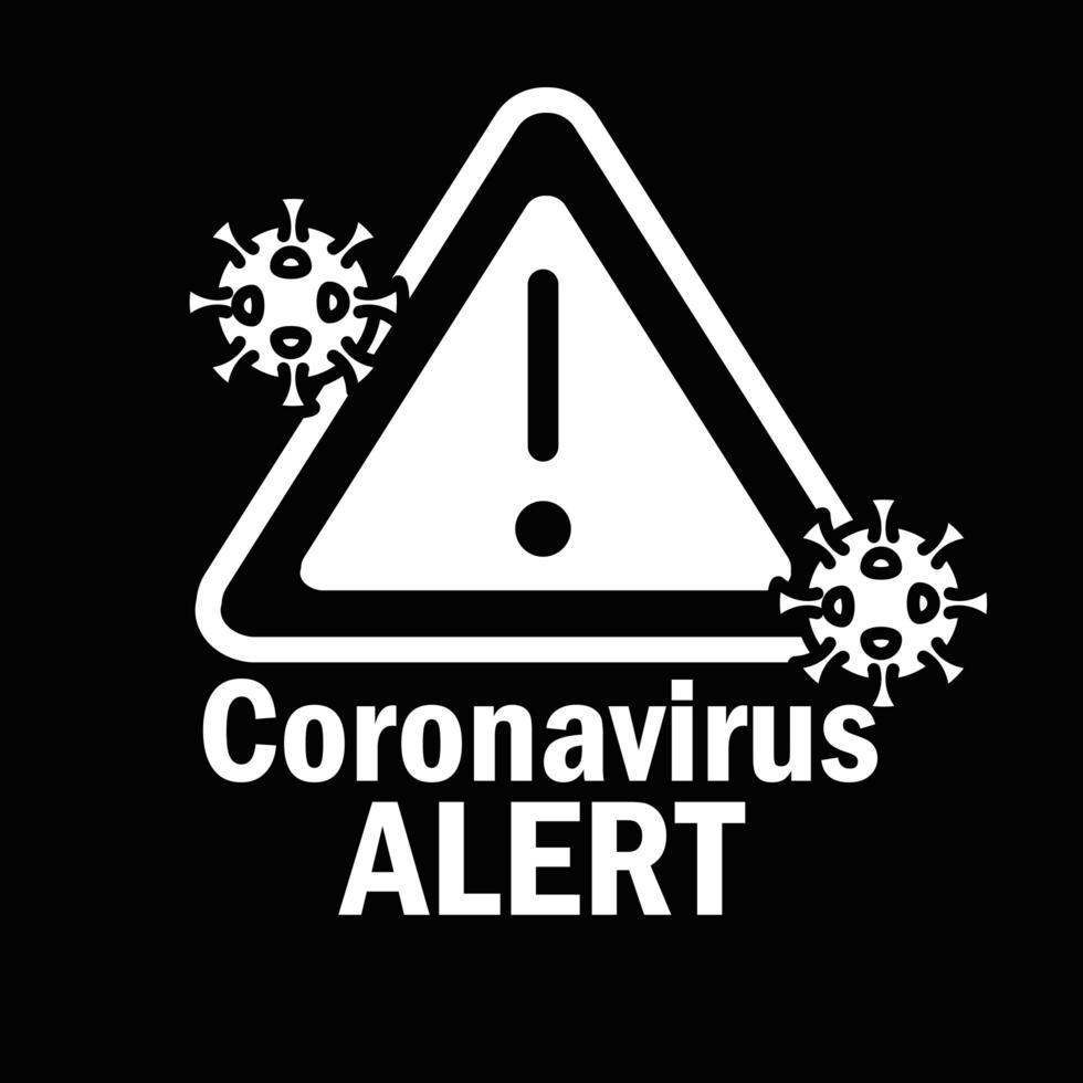coronavirus varning med piktogram tecken vektor